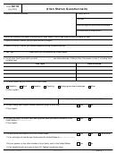 Form 9210 - Alien Status Questionnaire