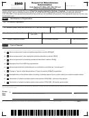 Form 8940 - Request For Miscellaneous Determination
