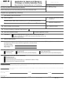 Form 4461-b - Application For Approval Of Master Or Prototype Or Volume Submitter Plans