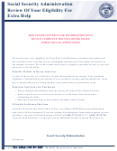 Form Ssa-1026b-ocr-sm-inst - Statement Foe Continuing Eligibility For Extra Help With Medicare Prescription Drug Plan Costs
