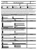 Form 6729-d - Site Review Sheet