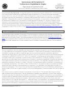 Instrucciones Del Verificacion De Elegibilidad De Empleo (formulario I-9) (spanish Version)