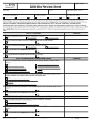 Form 6729 - Site Review Sheet