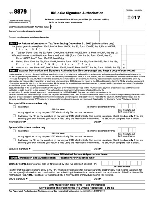 Top 35 Form 8879 Templates Free To Download In Pdf Format