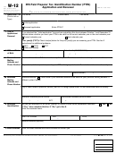 Form W-12 - Irs Paid Preparer Tax Identification Number (ptin) Application And Renewal