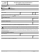 Form 10301 - Cd Encryption Code Authorization For Cp2100 972cg Notices