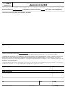 Form 12673 - Agreement To Bid