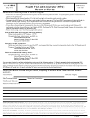 Form 13560 - Health Plan Administrator (hpa) Return Of Funds