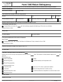 Form 15103 - Form 1040 Return Delinquency