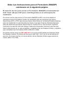 Instrucciones Para El Formulario 2848(sp) - Poder Legal Y Declaracion Del Representante (spanish Version)