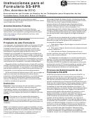 Instrucciones Para El Formulario Ss-8pr - Determinacion Del Estado De Empleo De Un Trabajador Para Propositos De Las Contribuciones Federales Sobre El Empleo (spanish Version)
