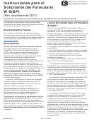 Instrucciones Para El Solicitante Del Formulario W-9(sp) - Solicitud Y Certificacion Del Numero De Identificacion Del Contribuyente (spanish Version)