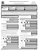 Form I-130a - Supplemental Information For Spouse Beneficiary