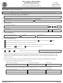 Form I-854a - Inter-agency Alien Witness And Informant Record