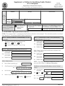 Form I-918 - Supplement A - Petition For Qualifying Family Member Of U-1 Recipient