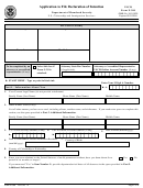 Form N-300 - Application To File Declaration Of Intention