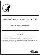 Form Cms-855a - Medicare Enrollment Application - Institutional Providers