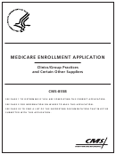 Form Cms-855b - Medicare Enrollment Application - Clinics/group Practices And Certain Other Suppliers