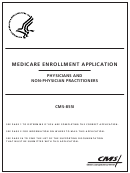 Form Cms-855i - Medicare Enrollment Application - Physicians And Non-physician Practitioners