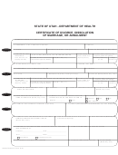Udoh Ovrs Form 14 - Certificate Of Divorce, Dissolution Of Marriage, Or Annulment