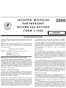 Form J-1065 - Filing Instructions - Jackson Mi Income Tax Division - 2006