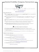 Form Llc - Limited Liability Company Articles Of Organization
