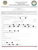 Form 5a - Visa Application Form