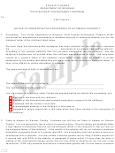 Form Cs-op01 Sample - Notice Of Administrative Proceeding To Establish Paternity