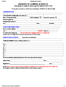 Application For Certificate Of Authority - Vermont Secretary Of State