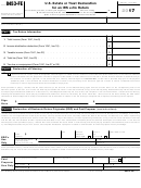 Form 8453-fe - U.s. Estate Or Trust Declaration For An Irs E-file Return - 2016