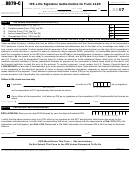Form 8879-c - Irs E-file Signature Authorization For Form 1120 - 2017