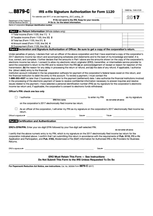 Form 8879 C Fashionellaconstance