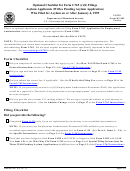 Form M-1162 - Optional Checklist For Form I-765 (c)(8) Fillings Asylum Applicants (with A Pending Asylum Application) Who Filed For Asylum On Or After January 4, 1995