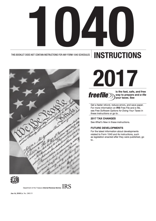 Instructions For Form 1040 - U.s. Individual Income Tax Return - 2016