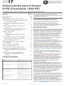 Instrucciones Para El Anexo H-pr (formulario 1040-pr) - Contribuciones Sobre El Empleo De Empleados Domesticos - 2017