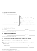 Petition For Dissolution Of Marriage (ptdss) - Superior Court Of Washington