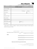 Sbe/ccf Form 5-501-502-801 - Certificate Of Withdrawal Or Declination