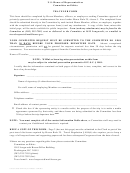 Traveler Form - U.s. House Of Representatives Committee On Ethics