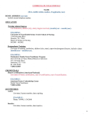 Nursing Fellowship Cv Template