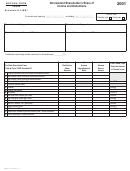 Form 120s - Schedule K-1 (nr) - Nonresident Shareholder's Share Of Income And Deductions - 2001