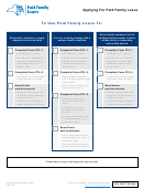Form Pfl-1 And Pfl-2 - Paid Family Leave Forms
