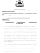 Registration And Medical Release Form