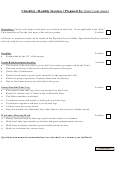 Checklist Template - Monthly Invoices
