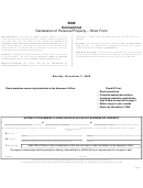 Declaration Of Personal Property - Short Form - Connecticut - 2008