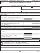 Form Ip-1 - Vermont Insurance Premium Tax Return