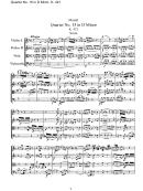 Mozart - Quartet No. 15 In D Minor, K. 421 - Sheet Music
