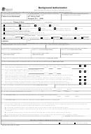 Form Dshs 09-653 - Background Authorization