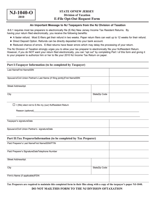 Top New Jersey Form Nj 1040 O Templates Free To Download In Pdf Format