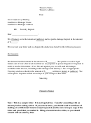Sample Letter To Landlord Disputing Damage Deposit Deductions