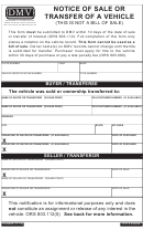 Form Stk # 300440 - Notice Of Sale Or Transfer Of A Vehicle - Oregon Department Of Transportation